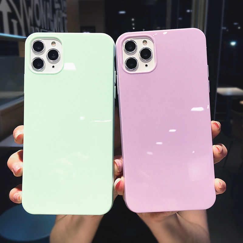 Lovebay カラフルな電話ケース xr x xs 最大 6 6 s 7 8 プラス 11Pro 最大の色ソフト tpu 高輝度裏表紙