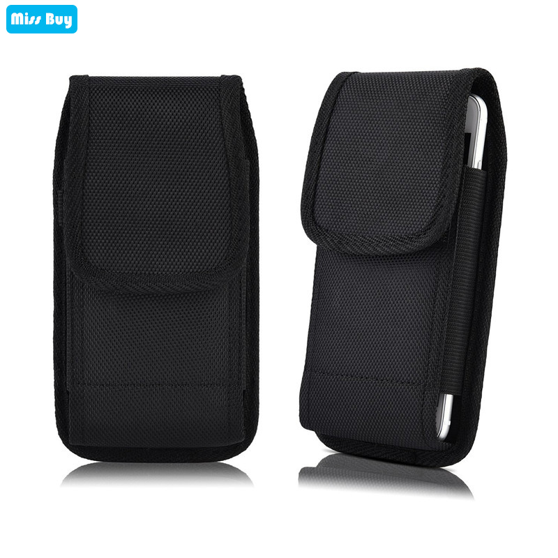 Phone Pouch Oxford Cloth Bag For Nokia 6 2018 <font><b>5</b></font> 4 3 2 1 7 plus 8 9 230 540 640 3310 2017 <font><b>105</b></font> Leather Cover Waist Holster Belt image