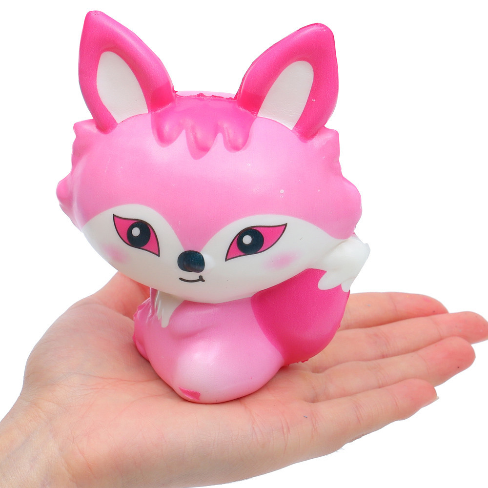 Exquisite Lovely Fox Squishy Slow Rising Fun Toy Eliminate Antistress Finger Pets Toy Colorful Creative Gift Soft Elastic Toy #A