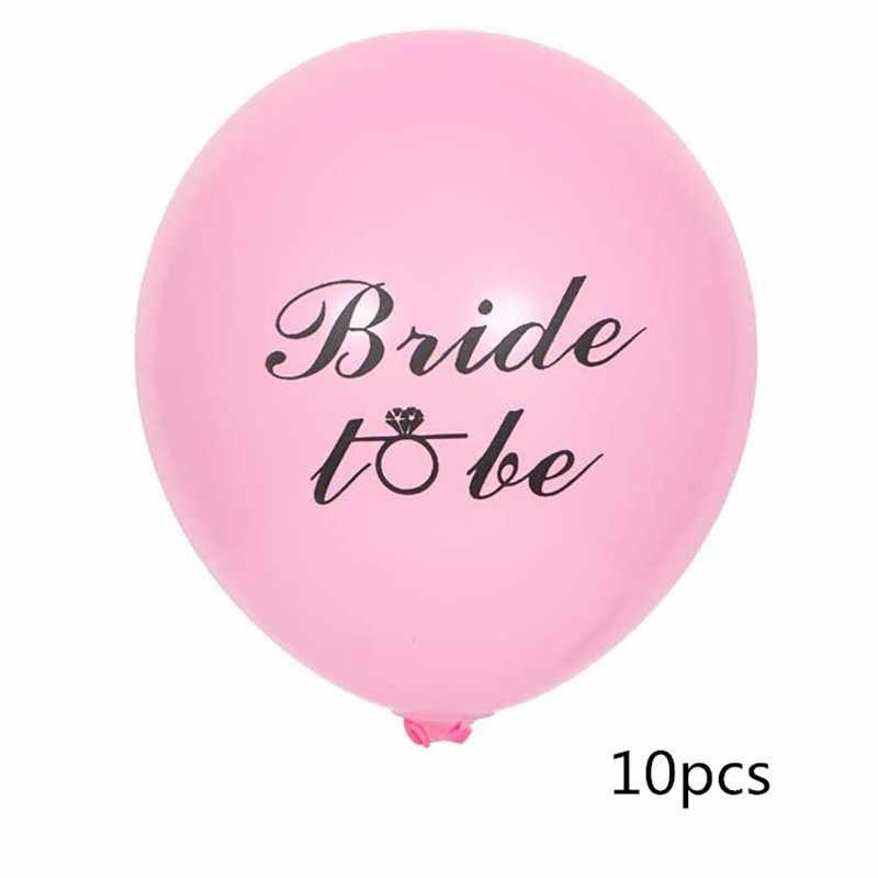 10 дюймов невесты латексные воздушные шары для свадьбы вечеринки Конфетти украшения баллон девичник только что женат фольги воздушный шар невесты быть