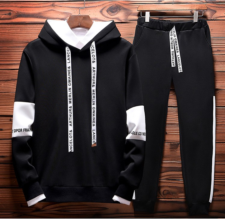 Autumn New Style MEN'S Sport Suit Casual Long Sleeve Baseball Uniform Outwear Middle School Students Men's Fitness Sweater Main