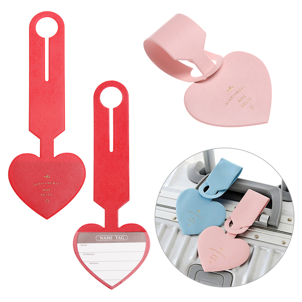 Love Hearts Handbag Tag For Travel Bag Suitcase Accessories 2 Pack Luggage Tags