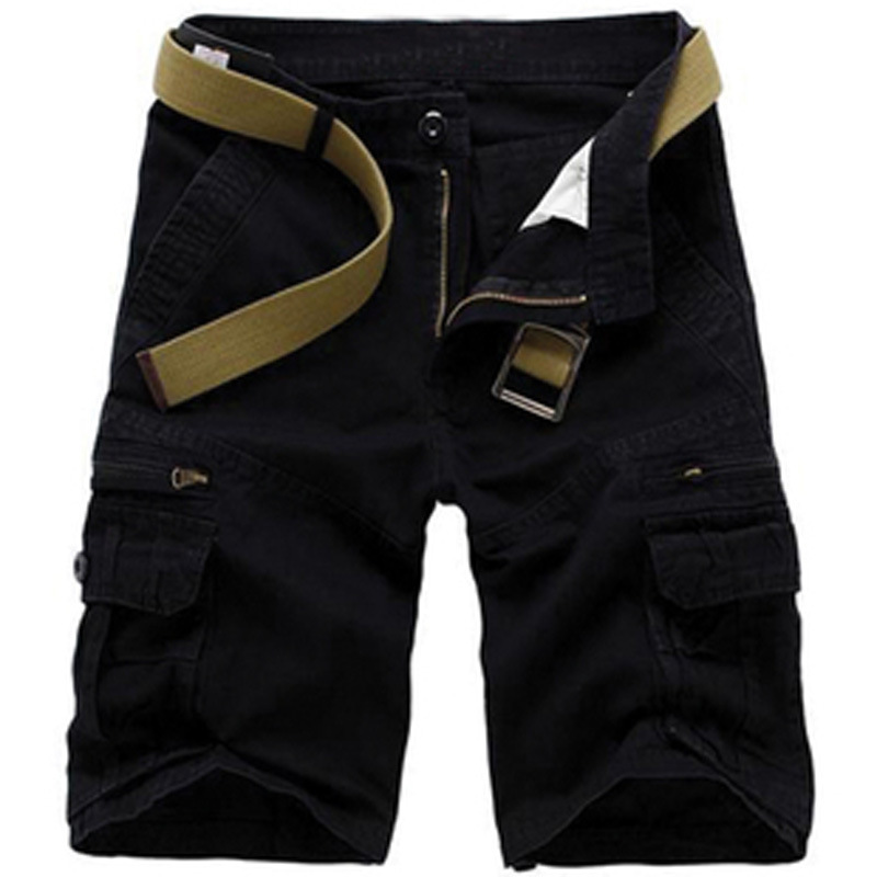 Europe And America Hot Selling Pure Cotton Loose-Fit Multi-pockets Bib Overall Shorts Ouma Shorts Summer Large Size MEN'S Trouse