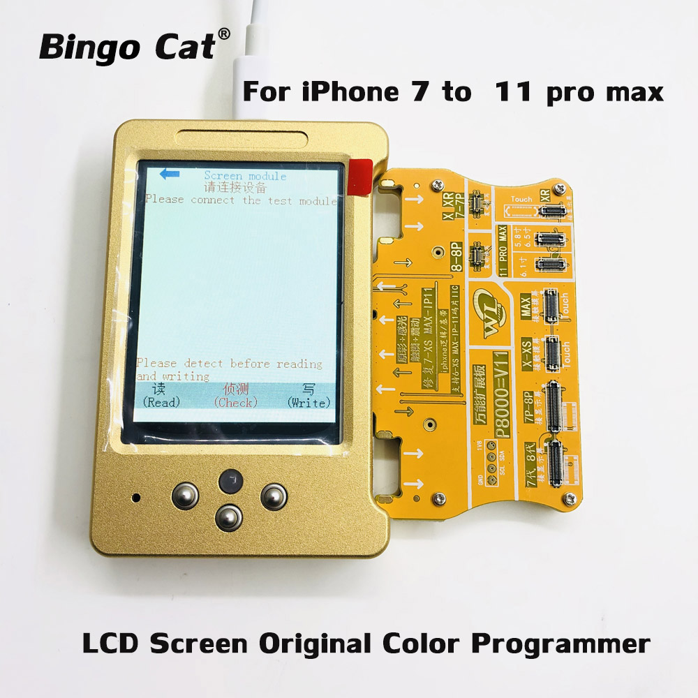 V6 LCD Screen Original Color Programmer Photosensitive Repair Module For X XS 11Pro Max 7 8 Plus True Tone/Touch/Battery Repair