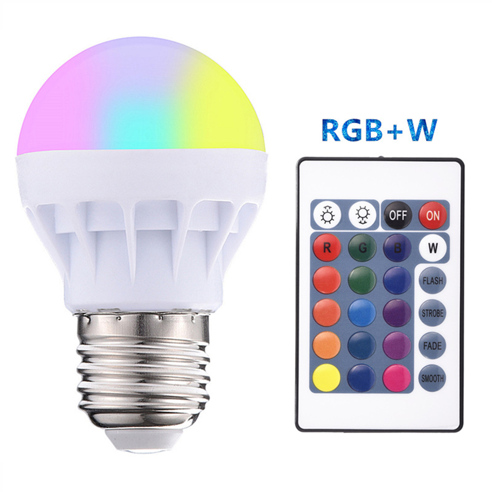 Light-Bulb Warm-Lights Remote-Control Chrismas Smart-Wifi Home RGB 3W Led 85-265V 20-Color-Lamp