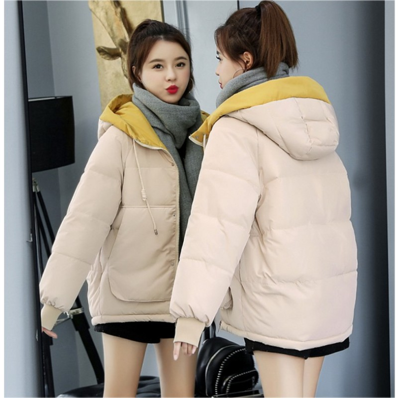 high quality 2019 short candy color hooded coat women winter   basic     jacket   high quality coat   jackets   plus size
