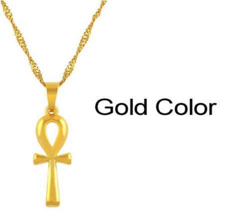 Anniyo Ai Cập ANKH Túi Đeo Chéo Cổ Người Phụ Nữ Cô Gái Vàng/Bạc Châu Phi Hạt Trang Sức Ai Cập Chữ Tượng Hình