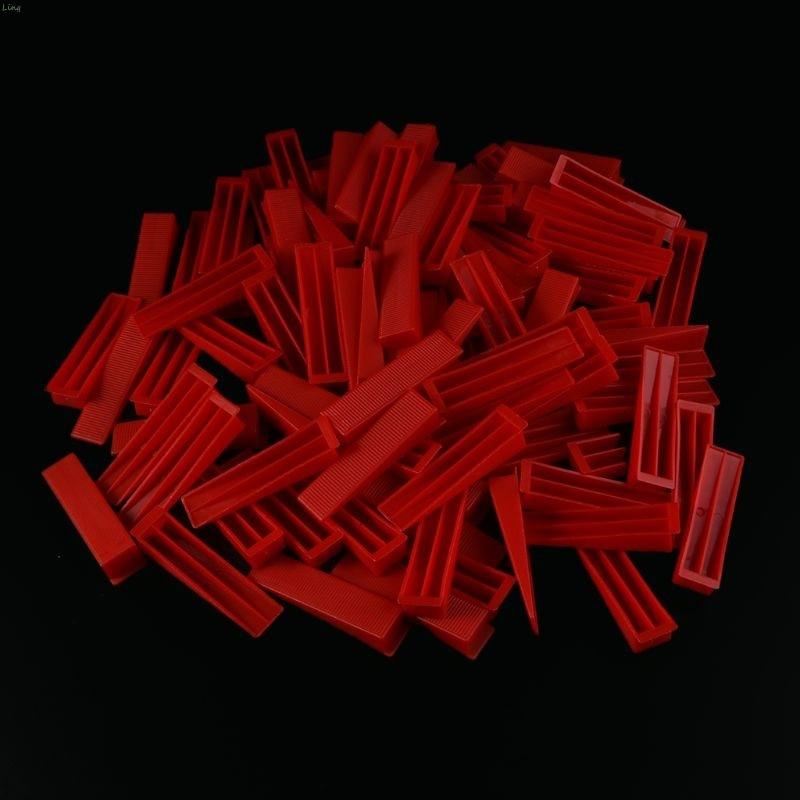 Plastic Ceramic Tile Leveling System Tile Leveler 100 Clips+100 Wedges Tiling Flooring Tools Wedges Clips