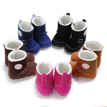Winter Baby Shoes Super Warm Infant Soft Bottom Snow Boots PU leather Baby Boys Girls Prewalkers 2016 winter new kids boots girls boys super perfect school outdoor free shipping chaussure snow boots super soft and comfortable