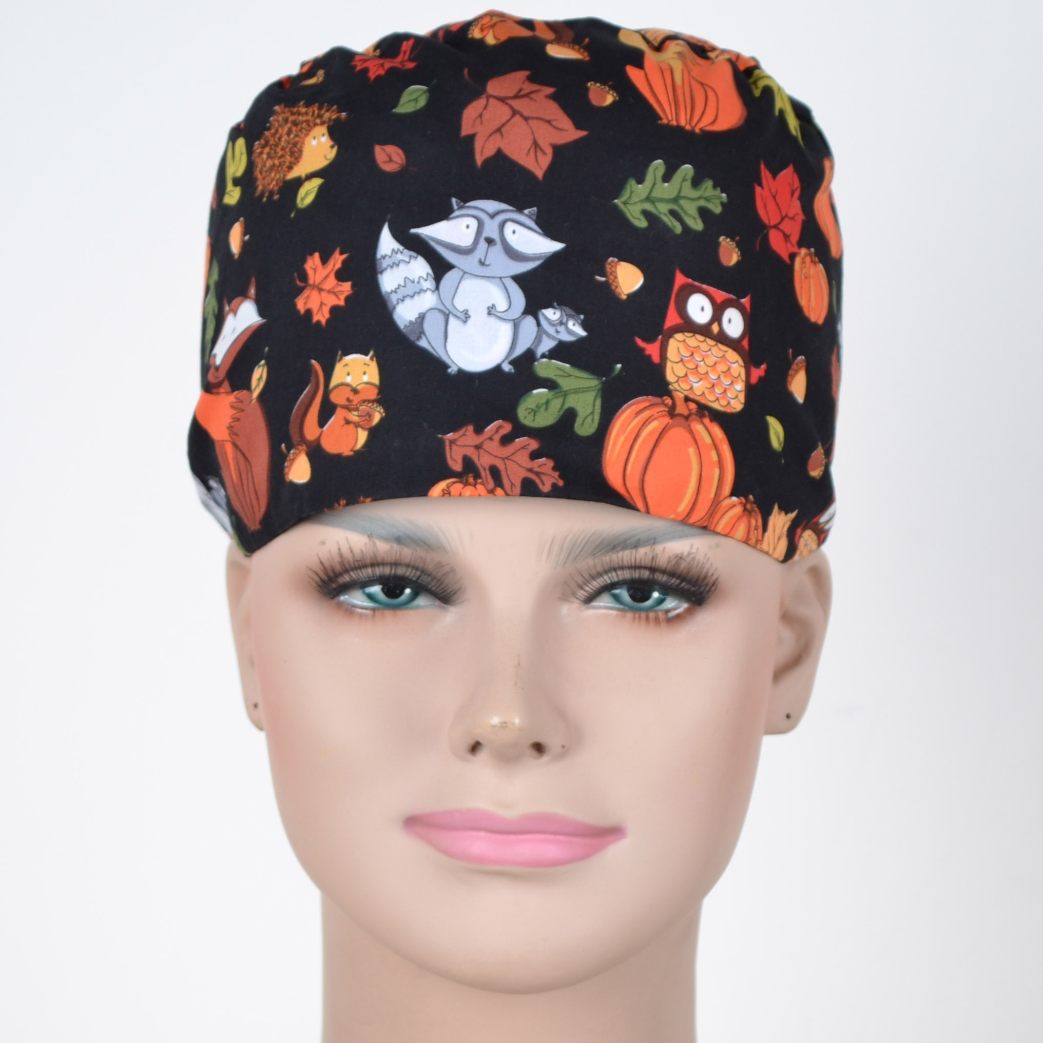 Hennar Surgical Scrub Caps For Women  With Sweatband 100% Cotton Medical Caps