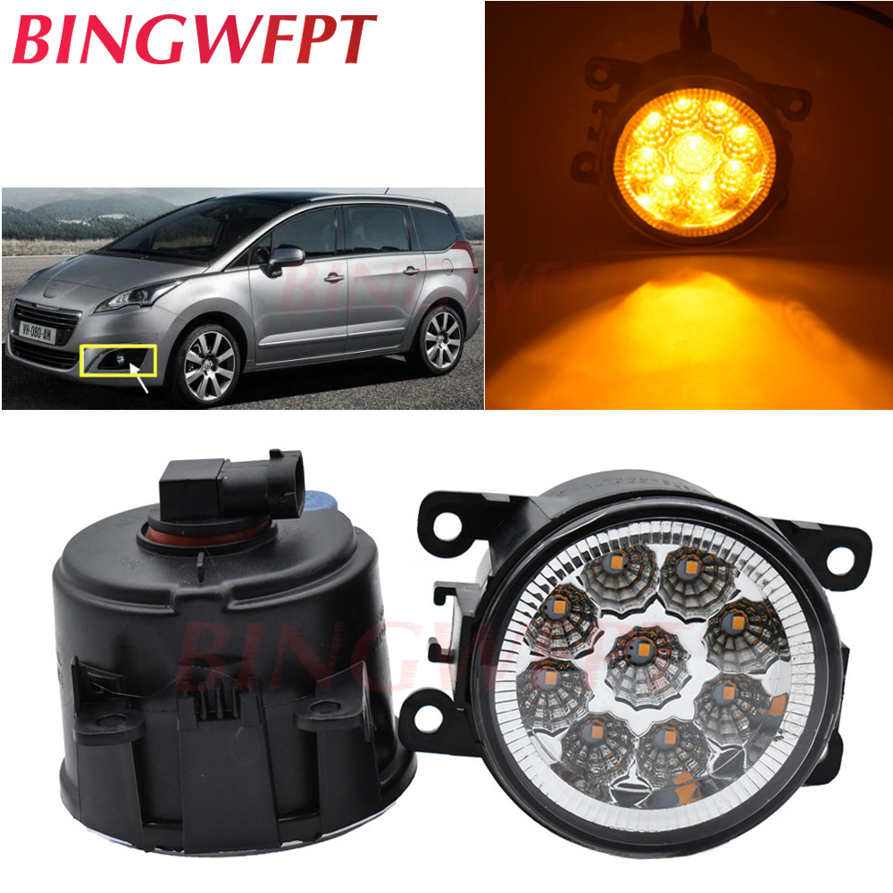 2pcs/lot High bright LED Fog Lights Fog <font><b>Lamp</b></font> Assembly Halogen <font><b>lamps</b></font> For <font><b>Peugeot</b></font> 107 207 307 407 607 <font><b>301</b></font> 308 408 3008 4007 5008 image