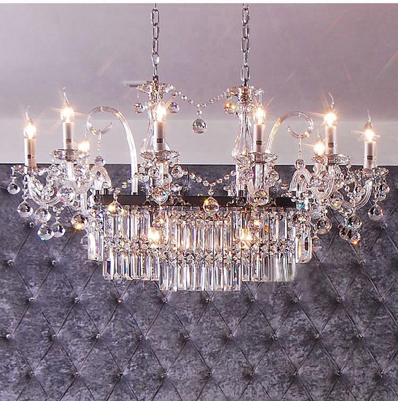 Phube Lighting Candle Crystal Chandeliers Light K9 Crystal Chandeliers Lustre Villa Chandeliers Light Lighting +Free shipping!