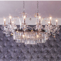 Phube Lighting Candle Crystal Chandeliers Light K9 Crystal Chandeliers Lustre Villa Chandeliers Light Lighting +Free shipping!
