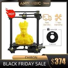Anycúbico chiron 3d impressora grande volume de construção com nível automático ultrabase impressora 3d design modular impresora 3d drucker