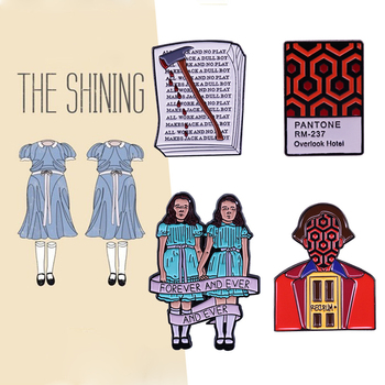 The Shining Brooch Pin Jack Danny Murder Cosplay Accessories Prop Metal Badge image