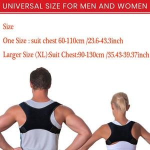 Image 5 - Nova postura corrector volta apoio cinto ombro bandagem corset volta ortopédico coluna postura corrector alívio da dor nas costas