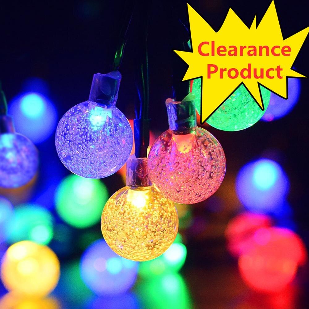 T SUNRISE Solar String Light Multicolor 50LED Fairy Lighting