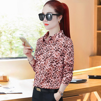 shirts women 2019 plus size tops Leopard Chiffon Full korean fashion clothing streetwear womens shirts blouse ladies tops
