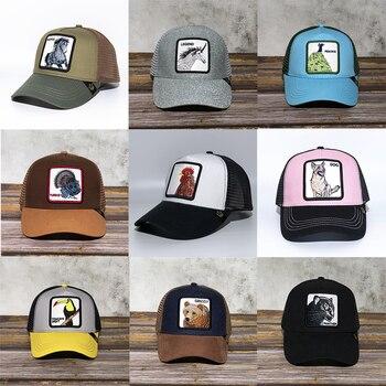 100% Cotton Baseball Cap Summer Breathable Unisex Net Hats Snapback Hats Hip Hop Rooster Embroidery Baseball Cap Sunhat F25