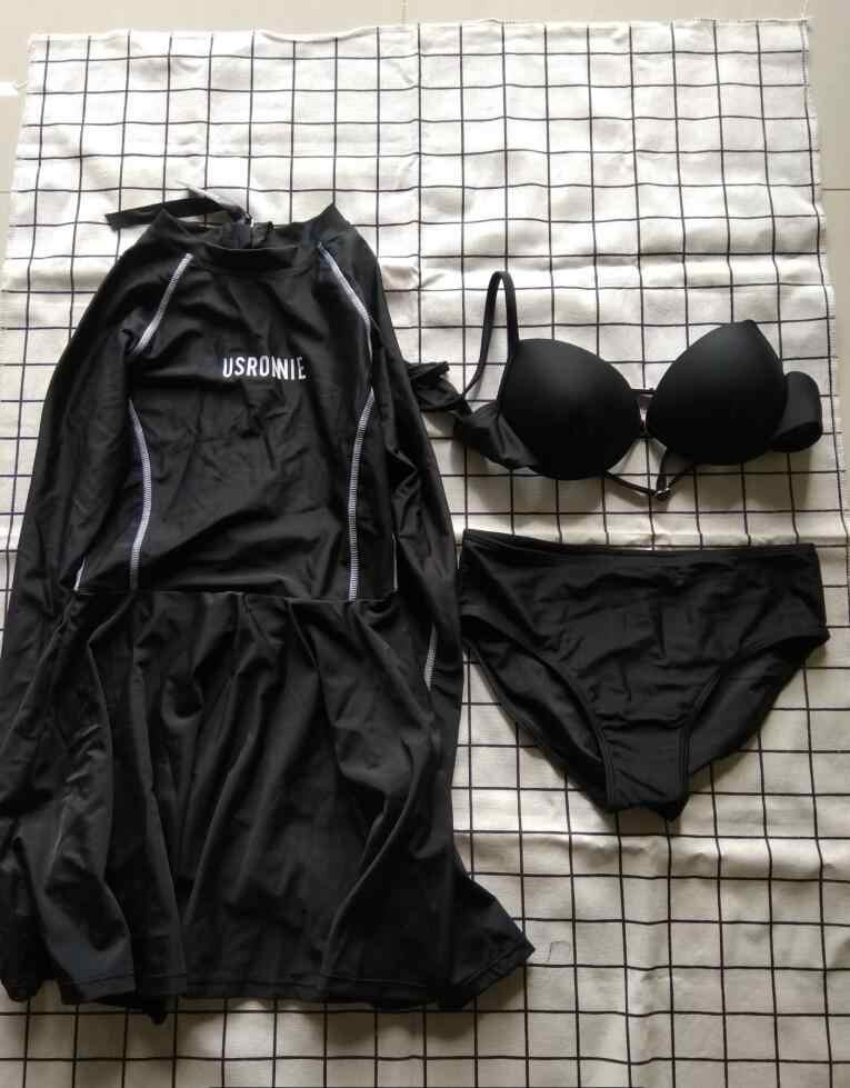 Đi Biển 2019 Lướt Áo Phụ Nữ Đồ Bơi Bơi Chống Nắng Cao Cấp Đầm Đầm Plus Kích Thước Bơi Hàn Quốc Mới Chia Nữ Dài tay Áo