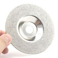 Disco de diamante de esmerilhamento, 4 Polegada 60 grão revestido lap plana disco roda lapidário ferramentas