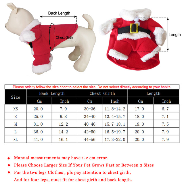 Christmas Funny Santa Claus Costume For Dogs