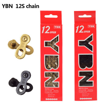 YBN 12 Speed Bike Black Chain 12s MTB Road Bike Sprocket Gold Chain Free Shipping for Shimano SRAM Campanolo System Riding фото