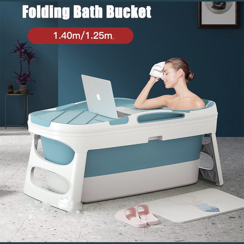 Bathtub Adult Home Sauna With Bathtub Cover Household Folding Bath Body Large Bath Barrel Thickened Tub Child Bathtub Artifact