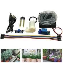 Система автоматического полива почвы своими руками, модуль насоса с датчиком влажности почвы, влажность воды ржавеет от датчика.