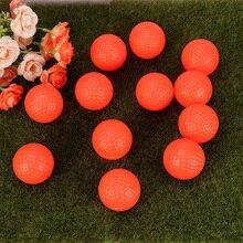 12pcs Balls Sports PU Indoor Outdoor Practice Training Aids Exercise Field Indoor Training Golfball(Orange)