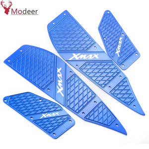 Image 5 - LOGO XMAX For YAMAHA XMAX 125/300/400 Techmax 2020 X MAX Motorcycle Alloy Accessories Foot Pegs Footrest Step Pedal Foot plate