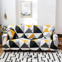 Plaid geometric slipcover cute sofa covers suitable for living