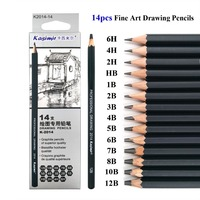 Best Quality 14/24pcs 6H-12B & 14B Drawing Charcoal Pencils Set Professional skeching pencil Graphite Pencils Pencil for Artist