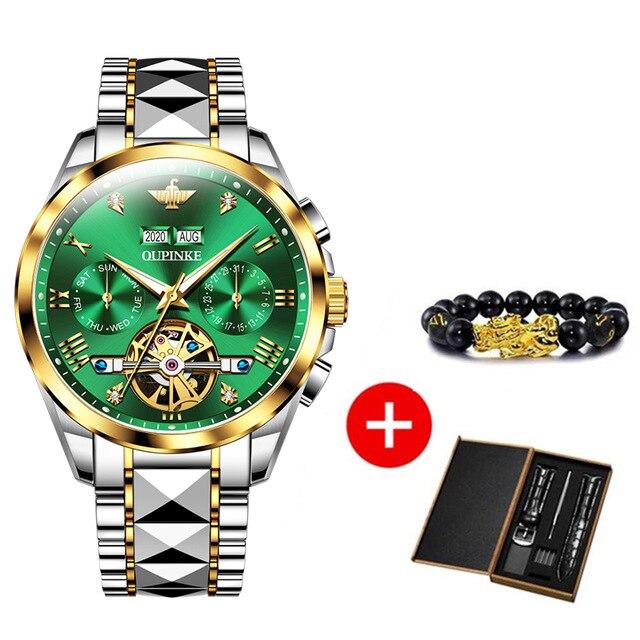 2020 Luxury Men Mechanical Wristwatch Tungsten Steel Tourbillon Watch Sapphire Glass Men Watches reloj hombre OUPINKE Brand 9