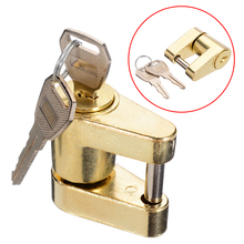 1set Zinc Alloy Trailer Hitch Coupler Lock For Locking Hauling Security Towing Tow Bar Mobile Facilities Yachts + 2pcs Keys