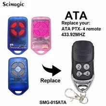 4 botão da garagem/porta porta substituição transmissor de controle remoto para ata ptx4 433.92 mhz