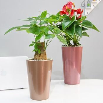 Nowa samonawadniająca się doniczka fioletowe doniczki leniwy doniczka automatyczna podlewanie doniczka do sadzenia-30 tanie i dobre opinie CN (pochodzenie) Pulpit Pokryta epoksydową Nowoczesne Kwiat zielonych roślin Kwiat tub Z tworzywa sztucznego Flower