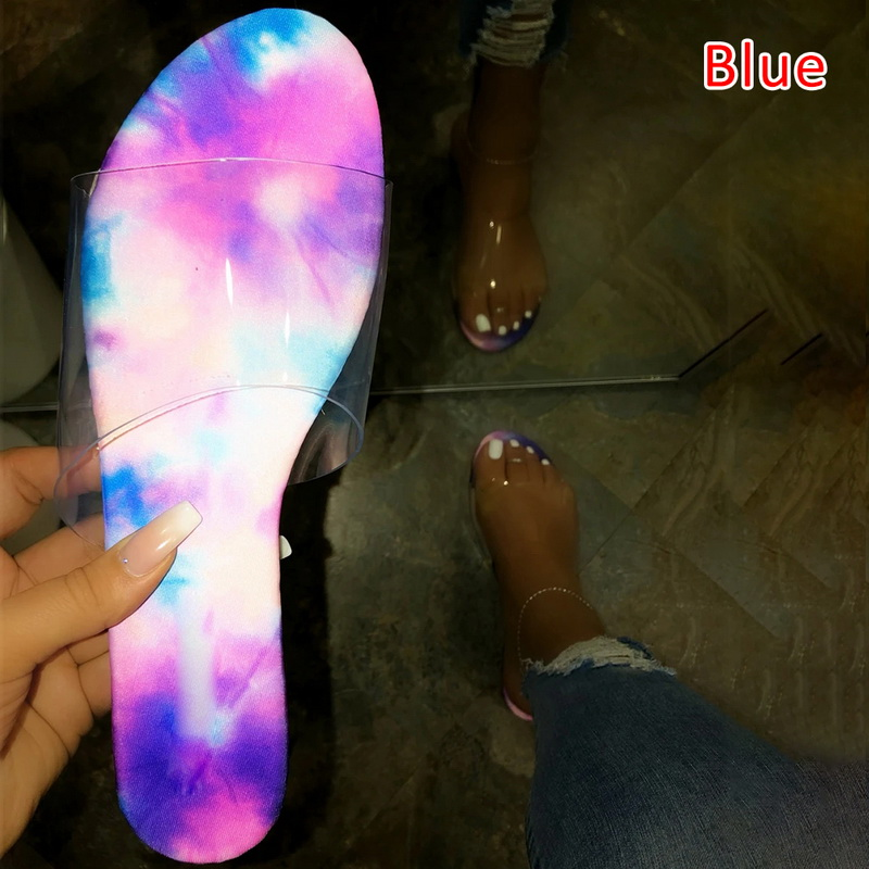 H902e51d8149245df8913a4e74102cc73E - Fashion Women Slippers Slides Clear Transparent Jelly Shoes Outdoors Female Sexy Summer Beach Shoes 2020 Female Footwear