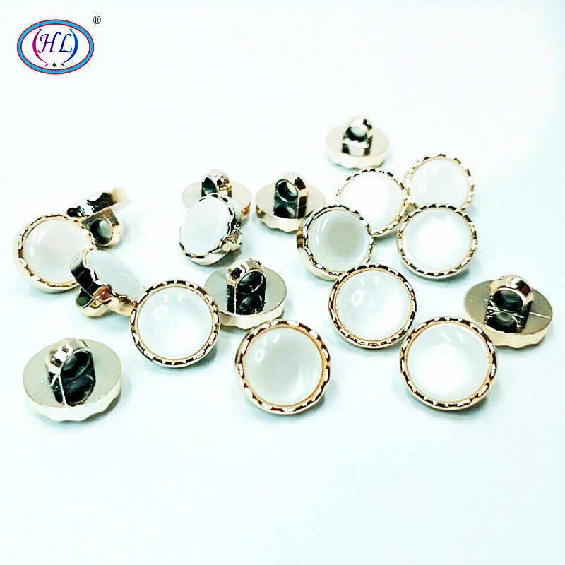 Prawdziwe Botones Scrapbooking HL 30/50/150 sztuk 12mm nowe przyciski poszycia z kamienia Shank Diy akcesoria do naszycia na odzież koszula