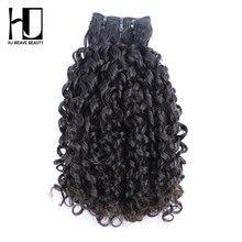Пучки волос с двойным нарисованным плетением, волнистые волосы 14A Funmi, необработанные натуральные волосы, естественный цвет
