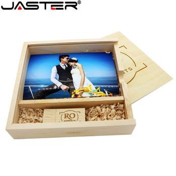 XPAY Wooden Photo Album Large oval usb+Box usb flash drive U disk Pendrive 8GB 16GB 32GB Wedding Studio 170mm*170mm*35mm