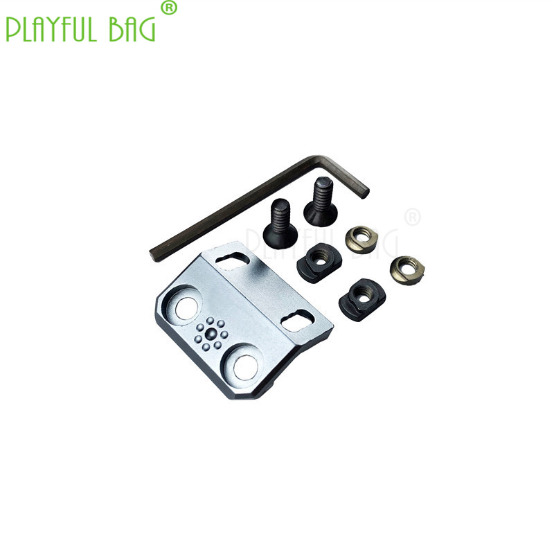 Outdoor Sports Peq Rat Tail Holder Bracket Upgrade Material Flashlight Laser Mouse Switch Rail Fish Bone Plug-in Universal RD04