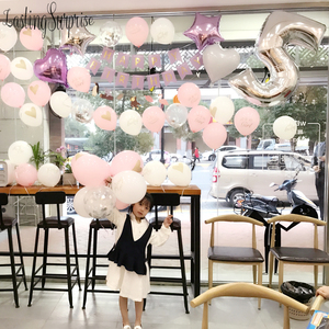 Image 4 - หัวใจพิมพ์ลูกโป่งสีขาวสีดำสีชมพูลูกโป่งConfettiบอลลูนBaby Shower Birthday Partyเด็กParty Decor