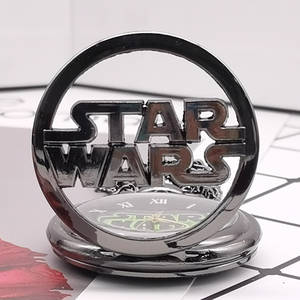 Pocket Watch Pendant-Clock Necklace Marvel Movie Retro Vintage Star-Wars Chain Gift Quartz
