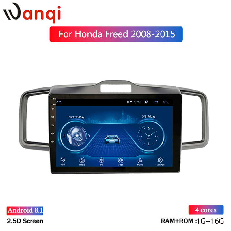 9 inch wanqi 8.1 vehicle car dvd multimedia gps navigation system for Honda Freed 2008-2015 support car steering wheel control