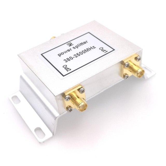 2 Way Micro Strip Power Splitter 800 2500MHz Wifi Antenna Splitter SMA Connector 380 2500MHz