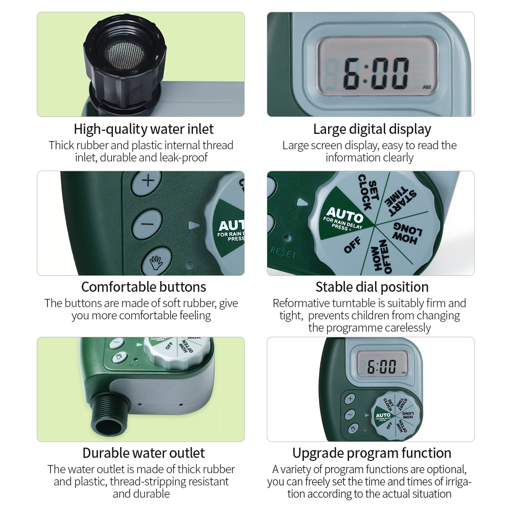 Image 3 - Automatic Water Timer Outdoor Garden Irrigation Controller 1 Outlet Programmable Hose Faucet Timer Garden Watering Device-in Flow Meters from Tools