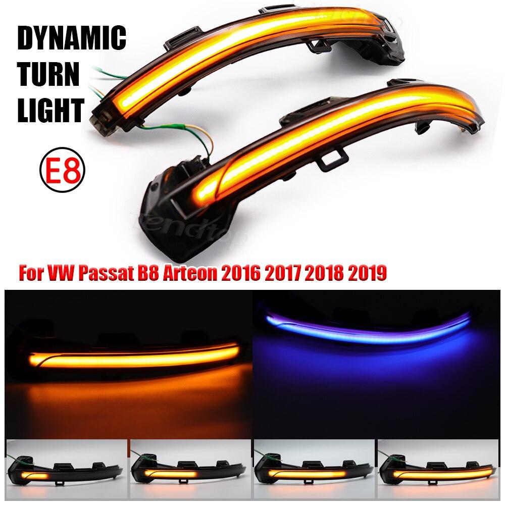 Светодиодный поворотный сигнал, Динамический указатель поворота для VW Passat B8, вариант Arteon 2015-2020 светильник световой зеркальный индикатор по...