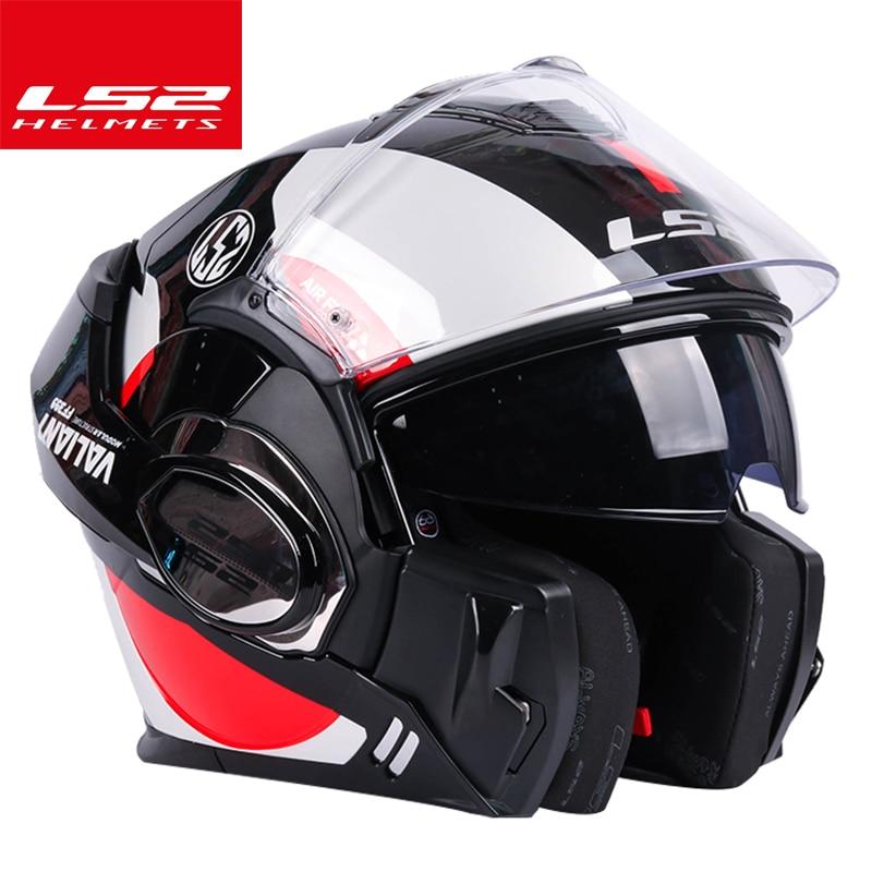 100% Original LS2 Valiant Helmet Ls2 Ff399 180°flip Up Chrome-plated Helmet Somersault Motocycle Helmet With Pinlock