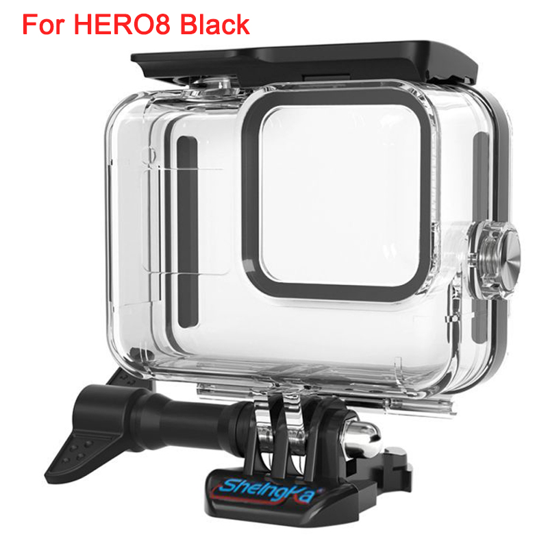For HERO8 Black Diving Protective Housing Shell Surfing For Gopro Hero 8 Black Sports Camera Waterproof Cases Frame Accessories